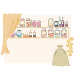 home pantry for food vector image vector image