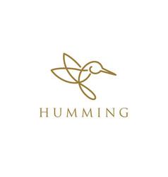 Huming bird animal logo for modern business vector