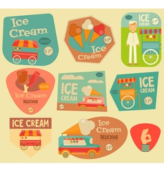 Ice Cream Stickers vector