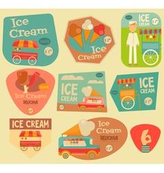 Ice cream stickers vector