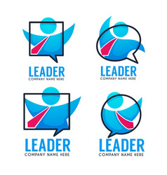 leader of your business team logo emblems vector image