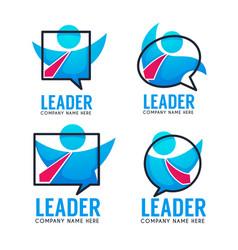 leader your business team logo emblems vector image