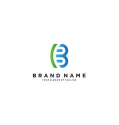 Letter bc logo design vector