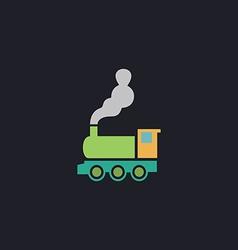 locomotive computer symbol vector image