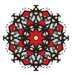 Mandala on isolated background vector image
