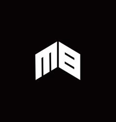 Mb logo monogram modern design template vector