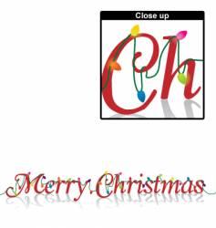 Merry Christmas lights vector