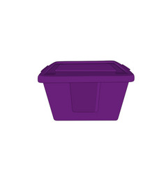 modern violet toolsbox isolated vector image