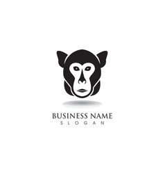 monkey symbol logo and symbol vector image