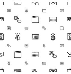 Number icons pattern seamless white background vector