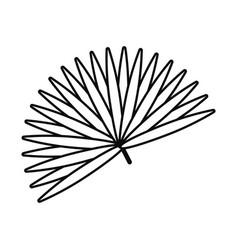 Palmetto fan leaf icon line style vector