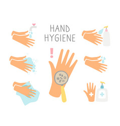 Personal hand daily hygiene vector