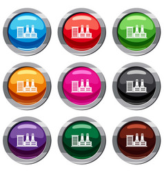 Power plant set 9 collection vector