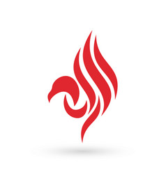 Red falcon logo icon vector