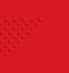 Red geometric square background in paper art vector