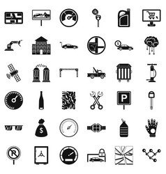 Repair auto icons set simple style vector