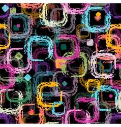 Repeating black pattern vector image