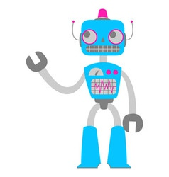 Retro tin robot toy vector