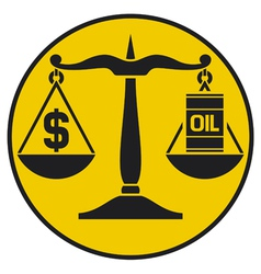 scales justice balancing oil with dollar vector image