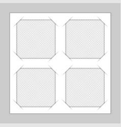 set template photo frames vector image