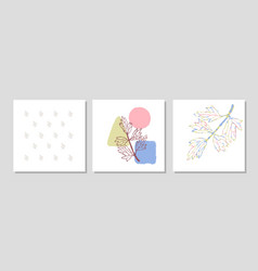 Set with collage modern poster with abstract vector