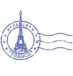 shabstamp with eiffel tower - sights paris vector image
