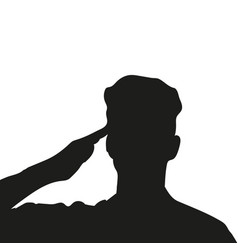 Silhouette of an unknown soldier vector