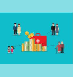 social welfare concept vector image