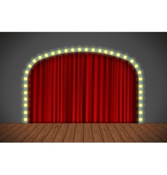 Stage with red curtain vector image