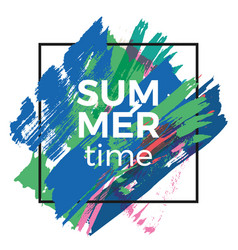 summer time poster background vector image