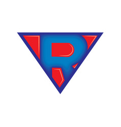 superman style r vector image