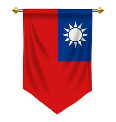 Taiwan pennant vector