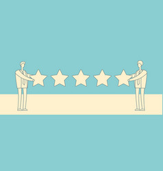 two businessmen giving five star rank vector image