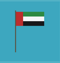 united arab emirates flag icon in flat design vector image
