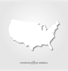usa map with shadow on light background vector image