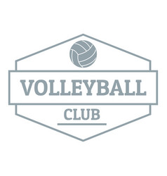 volleyball logo simple gray style vector image