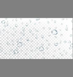 water drops background water splash vector image