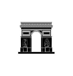 world attractions arc de triomphe in paris vector image