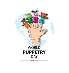 world puppetry day 21 march vector image