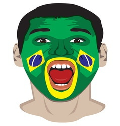 Go Brazil resize vector image vector image