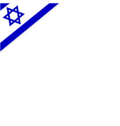 square background frame with the flag of israel vector image vector image