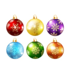 Collection of isolated christmas balls vector image
