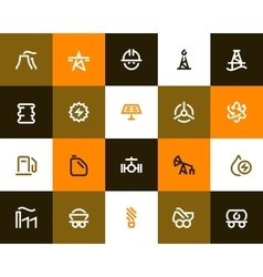 Power generation and oil industry icons Flat vector image vector image
