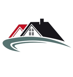 Real estate icon with house roof vector image vector image