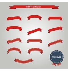 Red ribbon set vector image