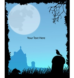 Halloween party invitation vector image vector image