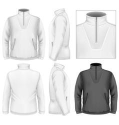 Mens fleece sweater design template vector image vector image