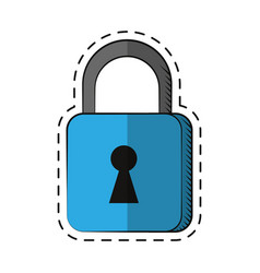 cartoon padlock security system technology vector image vector image