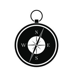 Compass black simple icon vector image