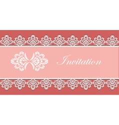 Invitation card with ornaments vector